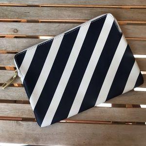 GAP | Striped Zipper Closure Clutch